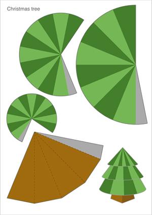 サンタやトナカイが出来る紙 ... : クリスマスツリー 紙工作 : すべての講義